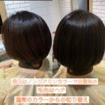 通常のカラーからヘナやノンジアミンカラーへの切り替え。自由が丘髪質改善特化サロンtecco.