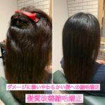 切れ毛やアホ毛、ダメージの出やすい髪への縮毛矯正はPH移行還元を使います。自由が丘髪質改善特化サロンtecco.