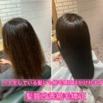 ヘナをしている髪にも縮毛矯正はかけれます。ヘナをしている髪に髪質改善縮毛矯正。